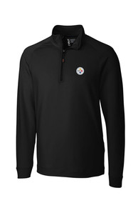 Pittsburgh Steelers Cutter and Buck Jackson 1/4 Zip Pullover - Black