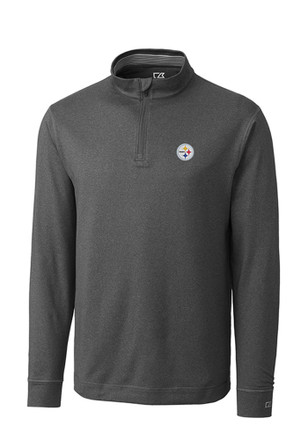Cutter and Buck Pittsburgh Steelers Mens Grey Topspin 1/4 Zip Pullover