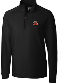 Cincinnati Bengals Cutter and Buck Jackson 1/4 Zip Pullover - Black