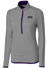 TCU Horned Frogs Womens Cutter and Buck Trevor Stripe Full Zip Jacket - Purple