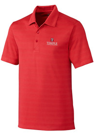 Temple Owls Cutter and Buck Interbay Melange Polo Shirt - Red