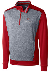 Temple Owls Cutter and Buck Replay 1/4 Zip Pullover - Red