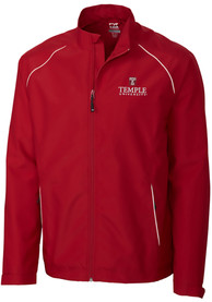 Temple Owls Cutter and Buck Beacon 1/4 Zip Pullover - Red