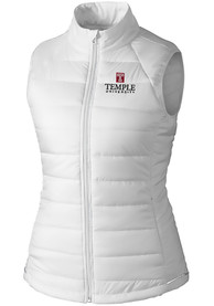 Temple Owls Womens Cutter and Buck Post Alley Vest - White