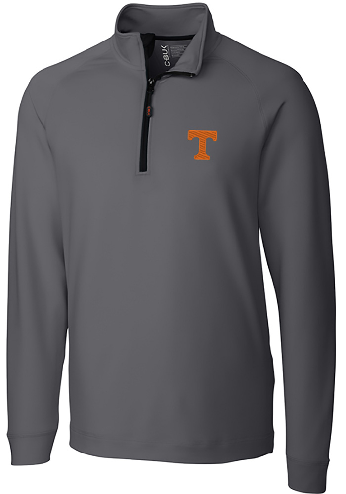 Cutter and Buck Tennessee Volunteers Mens Grey Jackson Long Sleeve 1/4 Zip Pullover - Image 1
