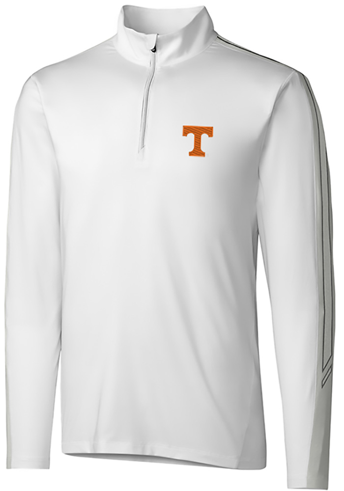 Tennessee Volunteers Cutter and Buck Pennant Sport 1/4 Zip Pullover - White