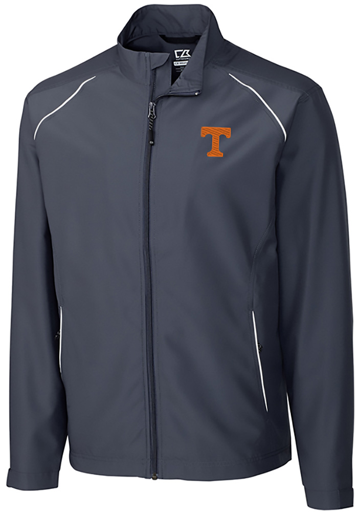 Cutter and Buck Tennessee Volunteers Mens Black Beacon Long Sleeve 1/4 Zip Pullover - Image 1