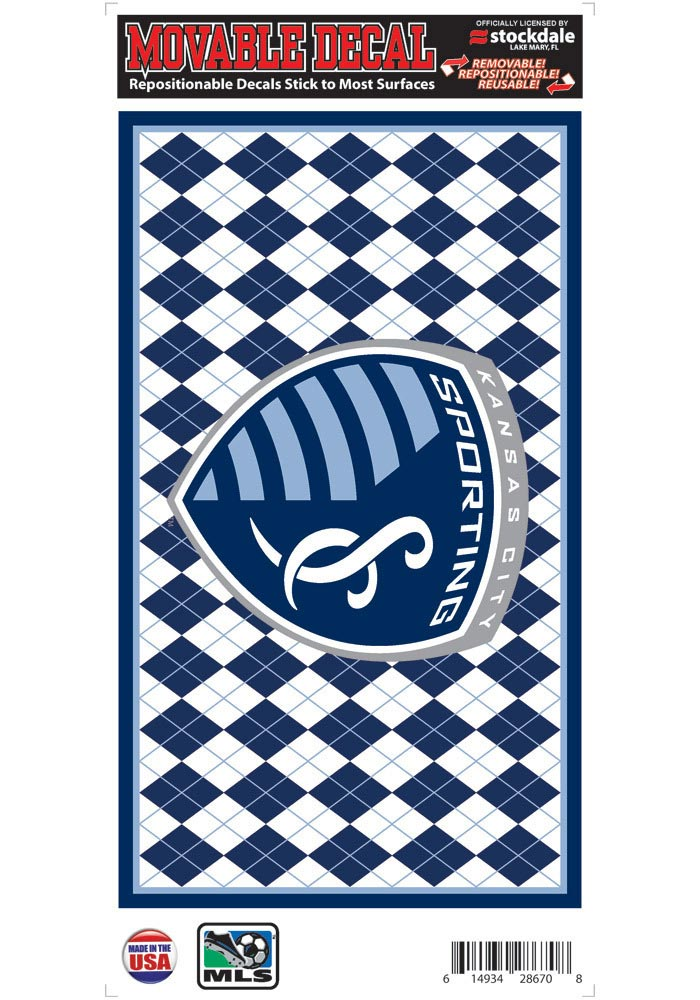 Sporting Kansas City 6z12 Argyle Logo Auto Decal - Navy Blue - Image 1