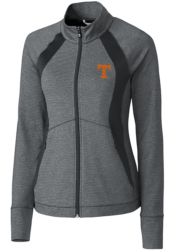 Cutter and Buck Tennessee Volunteers Womens Grey Shoreline 1/4 Zip Pullover - Image 1