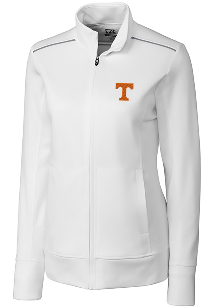 Cutter and Buck Tennessee Volunteers Womens White Ridge Long Sleeve Full Zip Jacket - Image 1