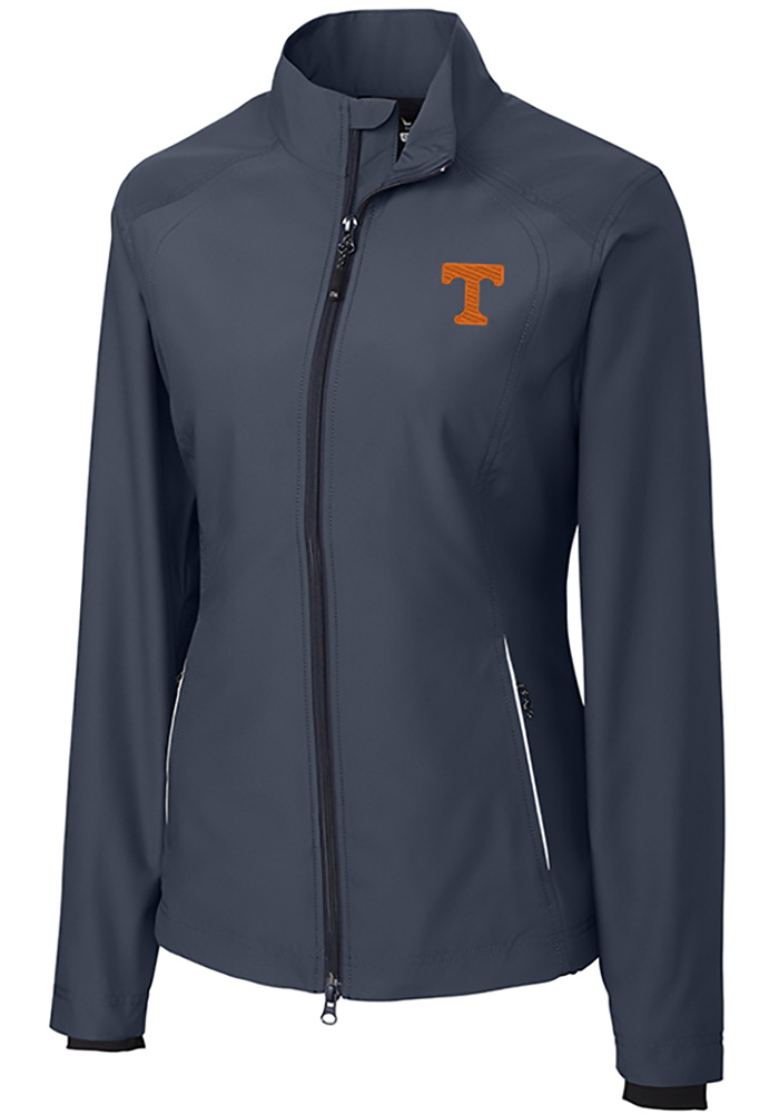 Cutter and Buck Tennessee Volunteers Womens Black Beacon Light Weight Jacket - Image 1