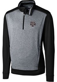 Texas A&M Aggies Cutter and Buck Replay 1/4 Zip Pullover - Black