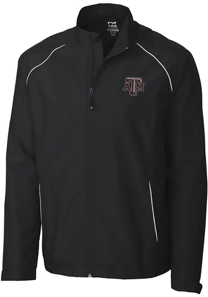 Cutter and Buck Texas A&M Aggies Mens Black Beacon Long Sleeve 1/4 Zip Pullover - Image 1