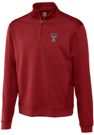 Texas Tech Red Raiders Cutter and Buck Edge 1/4 Zip Pullover - Red