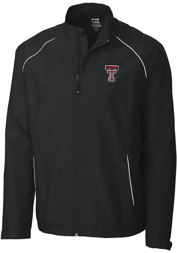 Cutter and Buck Texas Tech Red Raiders Mens Black Beacon Long Sleeve 1/4 Zip Pullover - Image 1