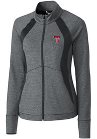 Texas Tech Red Raiders Womens Cutter and Buck Shoreline 1/4 Zip Pullover - Grey