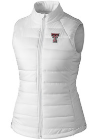 Texas Tech Red Raiders Womens Cutter and Buck Post Alley Vest - White