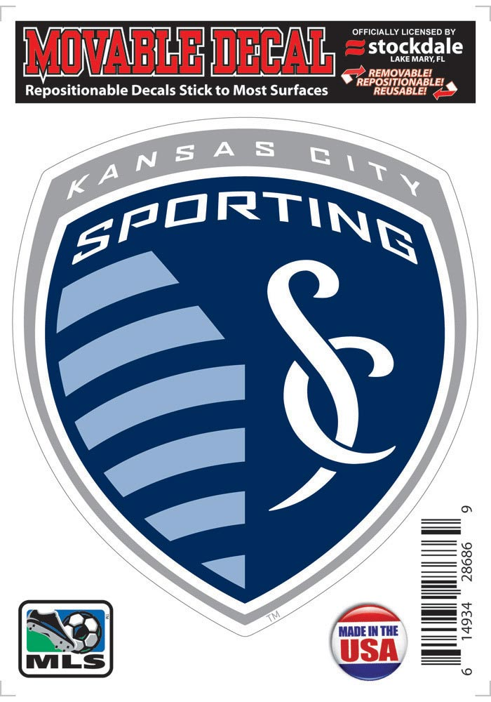 Sporting Kansas City 5x7 Logo Auto Decal - Blue