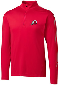 Utah Utes Cutter and Buck Pennant Sport 1/4 Zip Pullover - Red