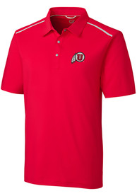 Utah Utes Cutter and Buck Fusion Polo Shirt - Red