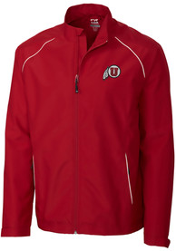 Utah Utes Cutter and Buck Beacon 1/4 Zip Pullover - Red
