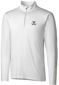 Virginia Cavaliers Cutter and Buck Pennant Sport 1/4 Zip Pullover - White