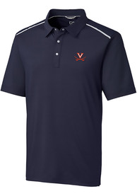 Virginia Cavaliers Cutter and Buck Fusion Polo Shirt - Navy Blue