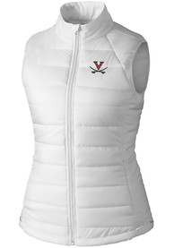 Virginia Cavaliers Womens Cutter and Buck Post Alley Vest - White