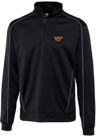 Virginia Tech Hokies Cutter and Buck Edge 1/4 Zip Pullover - Black