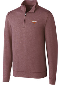 Virginia Tech Hokies Cutter and Buck Shoreline 1/4 Zip Pullover - Burgundy