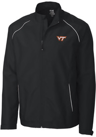 Virginia Tech Hokies Cutter and Buck Beacon 1/4 Zip Pullover - Black