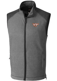 Virginia Tech Hokies Cutter and Buck Cedar Park Vest - Grey