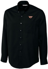 Virginia Tech Hokies Cutter and Buck Epic Dress Shirt - Black