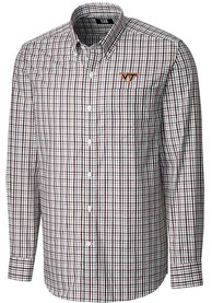 Virginia Tech Hokies Cutter and Buck Gilman Dress Shirt - Maroon