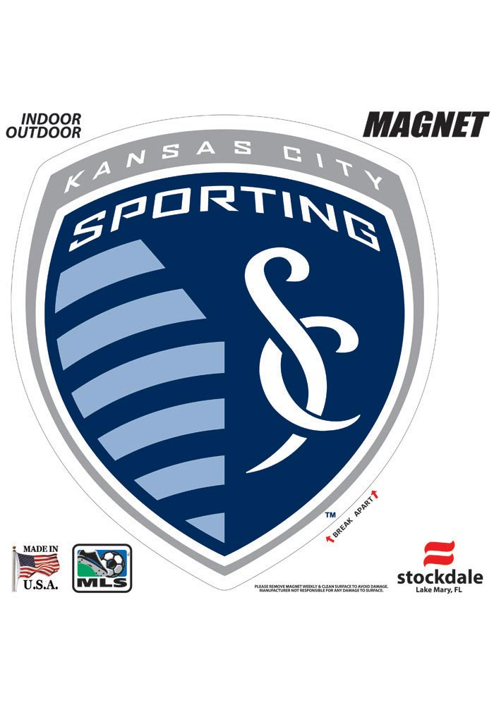 Sporting Kansas City 12x12 Primary Logo Car Magnet - Navy Blue