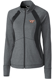 Virginia Tech Hokies Womens Cutter and Buck Shoreline 1/4 Zip Pullover - Grey