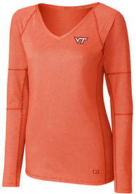 Virginia Tech Hokies Womens Cutter and Buck Victory T-Shirt - Orange