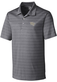 Wake Forest Demon Deacons Cutter and Buck Interbay Melange Polo Shirt - Grey