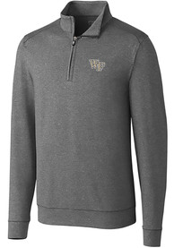 Wake Forest Demon Deacons Cutter and Buck Shoreline 1/4 Zip Pullover - Grey