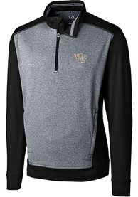 Wake Forest Demon Deacons Cutter and Buck Replay 1/4 Zip Pullover - Black