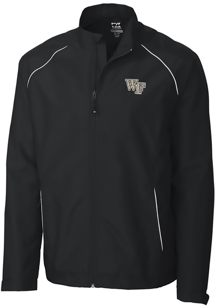 Cutter and Buck Wake Forest Demon Deacons Mens Black Beacon Long Sleeve 1/4 Zip Pullover - Image 1