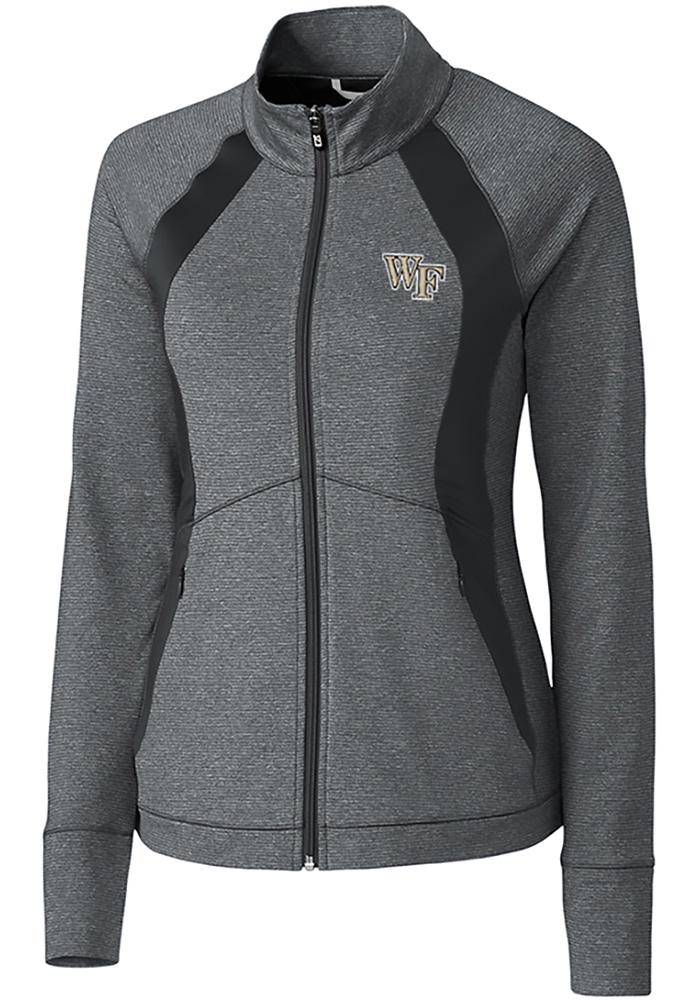 Cutter and Buck Wake Forest Demon Deacons Womens Grey Shoreline 1/4 Zip Pullover - Image 1