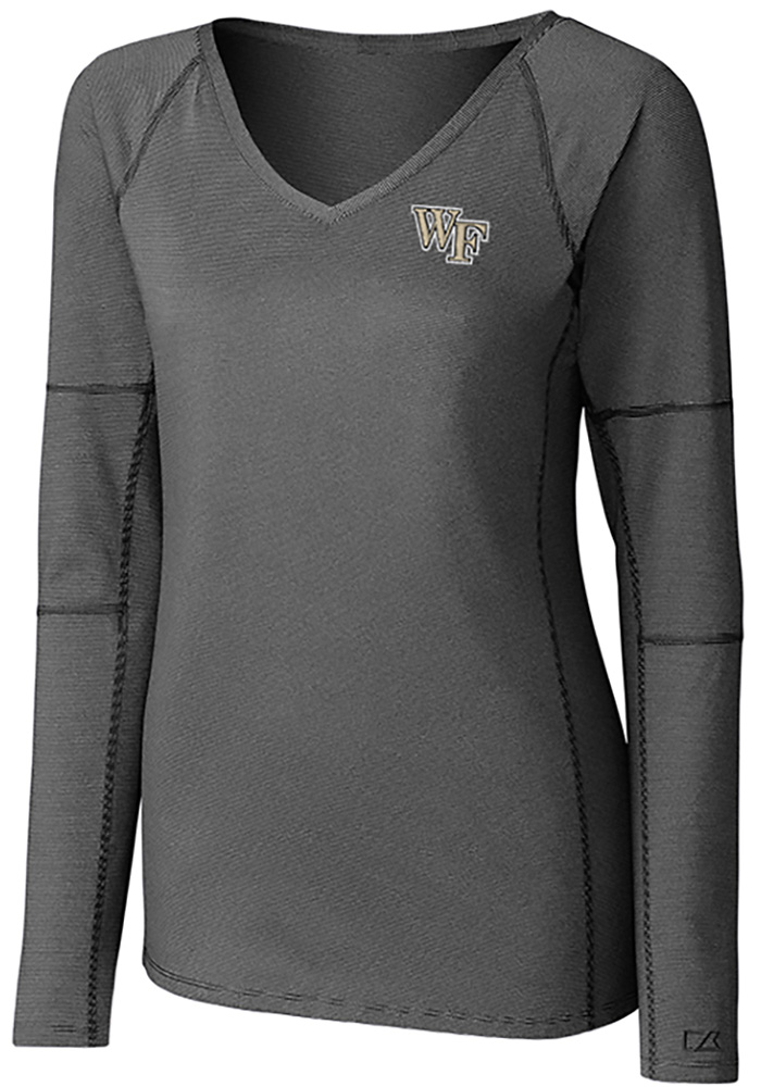 Cutter and Buck Wake Forest Demon Deacons Womens Black Victory LS Tee - Image 1