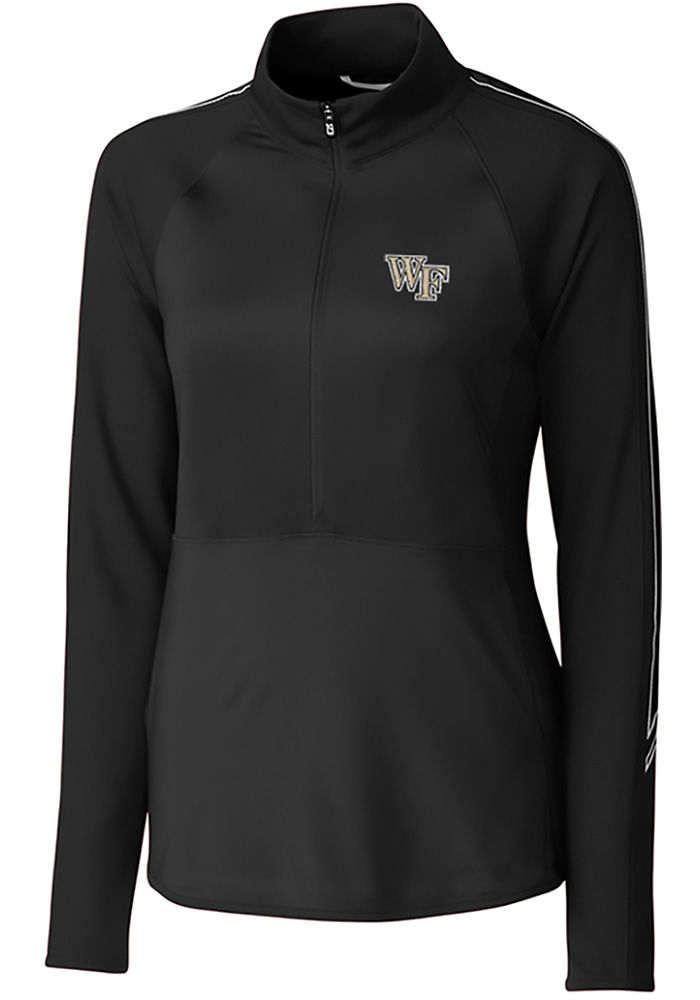 Cutter and Buck Wake Forest Demon Deacons Womens Black Pennant Sport Long Sleeve Full Zip Jacket - Image 1
