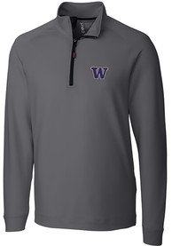 Washington Huskies Cutter and Buck Jackson 1/4 Zip Pullover - Grey