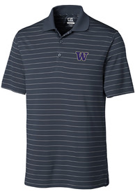 Washington Huskies Cutter and Buck Franklin Stripe Polo Shirt - White