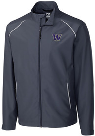 Washington Huskies Cutter and Buck Beacon 1/4 Zip Pullover - Black