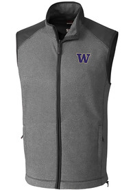 Washington Huskies Cutter and Buck Cedar Park Vest - Grey