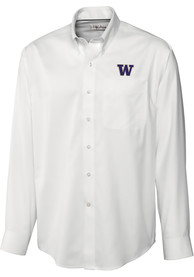 Washington Huskies Cutter and Buck Epic Dress Shirt - White