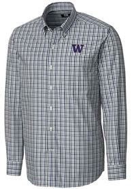 Washington Huskies Cutter and Buck Gilman Dress Shirt - Purple